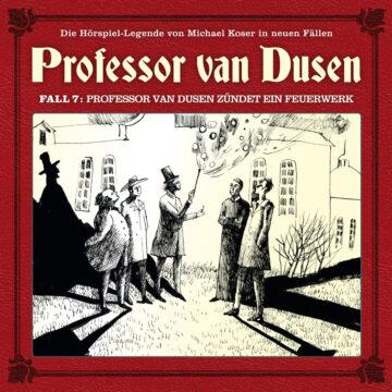 Professor van Dusen zündet ein Feuerwerk